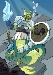 Merfolk Monster Warrior B