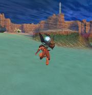 Sphinx using Aqua Darts