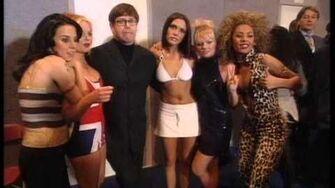 Zoe Ball interviews Spice Girls after their win BRIT Awards 1997