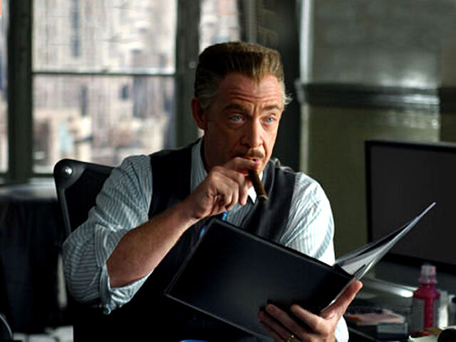 File:J. Jonah Jameson on his desk.jpg