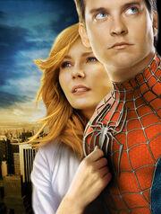 Promotional art of Kirsten Dunst & Tobey Maguire in Spider-Man 4 (2011)
