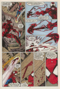 Carnage creating a weapon using the symbiote