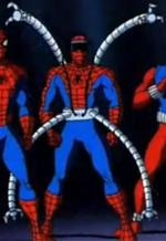 Spiderman with doc ock arms