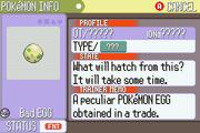 Bad Egg status screen RS
