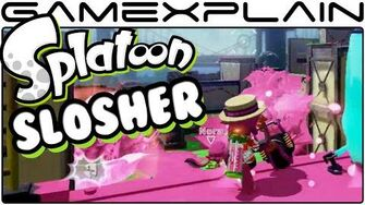 Splatoon - Slosher Weapon in Turf Wars (August Update - 60fps)
