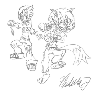 Tigzon and Jimmy sketch art