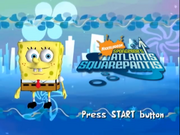 SpongeBob's Atlantis Squarepantis title screen