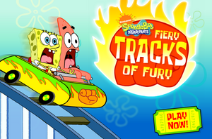 Fiery Tracks of Fury old title screen