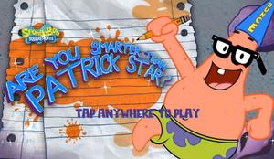 Areyousmarterthenpatrickstar