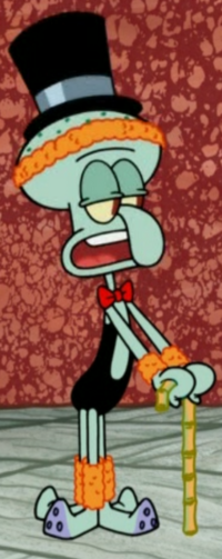 Squidward as a Fancy Dancer