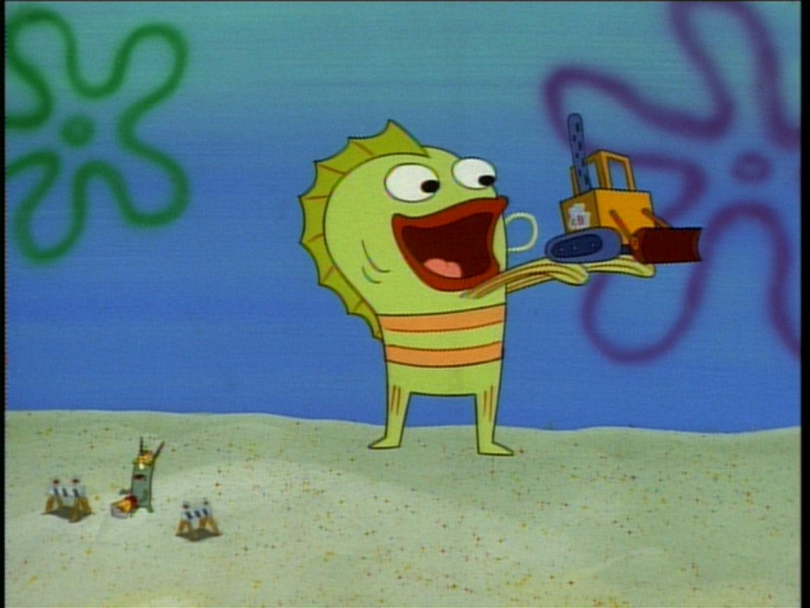 What is the name of green fish in spongebob best fish 2017 for Spongebob characters fish