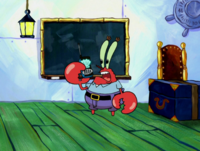Sheldon as Mr. Krabs