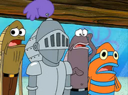 Knight Fish With Fred, Pilar, and Henry-Bart