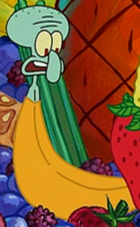 Squidward as a Banana