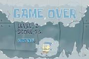 Sub Zero Hero - Game Over screen