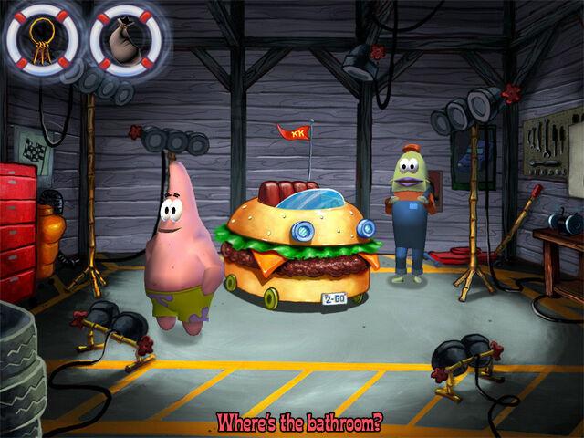 File:3d Patrick, The 3d Krabby Patty Wagon, & 1 Fish.jpg