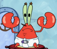 Mr. Krabs Wearing a Diaper