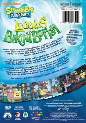 Legends of Bikini Bottom DVD Back Cover