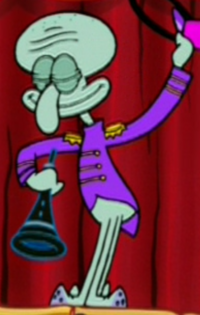 Squidward Wearing His Concert Uniform2