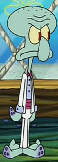 Squidward Wearing Fancy Clothes3