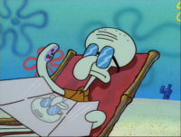Squidward Wearing Sunglasses