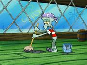 Squidward as a Pirate