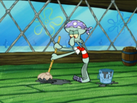 Squidward as a Pirate