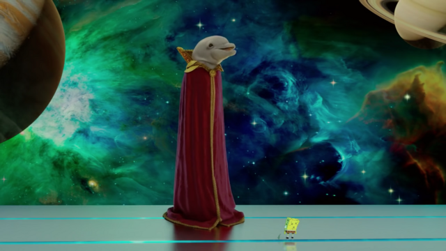File:Bubbles the Talking Dolphin in The SpongeBob Movie - Sponge Out of Water.png