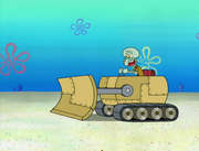 Squidward's Bulldozer in Big Sister Sam