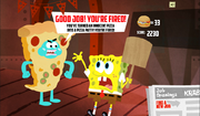 SpongeBob, You're Fired! (online game) - Good job! You're fired! (Pizza Pete)