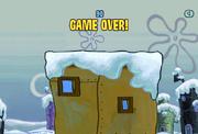 Spongebob Winter RUNerland Game Over