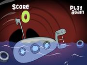 SpongeBob's Bumper Subs - Sub inside whale