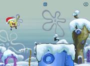 Spongebob Winter RUNerland Spongebob jumping
