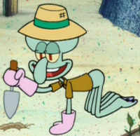 Squidward as a Gardener