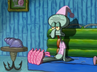 Squidward Wearing His PJs