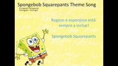 SpongeBob SquarePants Letra(lyrics) European Portuguese (Portugues-Portugal) Letra