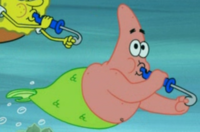 Patrick as a Mermaid