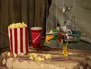 Potty with popcorn and soda