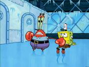 Krabs Hits Spongebob