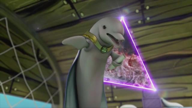 File:Bubbles the Talking Dolphin in SpongeBob HeroPants.png