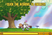 Sandy Chop Chop - Click the acorns to collect!