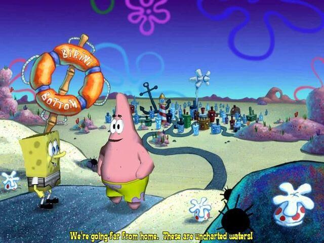 File:3D Spongebob & 3D Patrick Outside Of Bikini Bottom.jpg