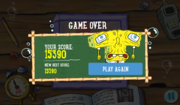 Barnacles! My Face! - Game over