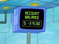 SpongeBob SquarePants Karen the Computer Account Balance
