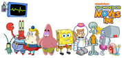 SpongeBob SquarePants Moves In Cast Patrick Sandy Squidward Mr. Krabs Plankton Mrs. Puff Pearl Karen Gary Characters Game