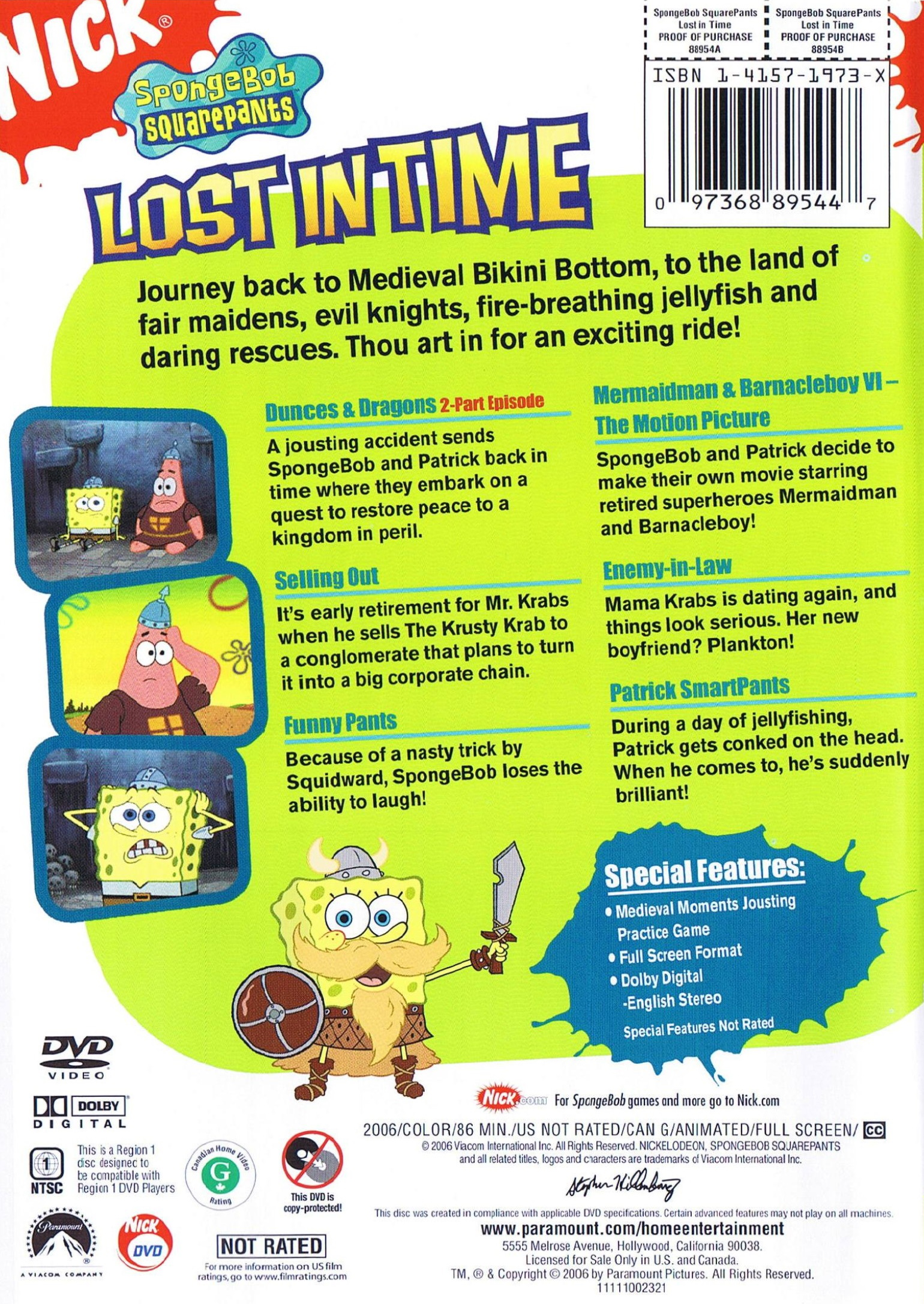 Lost in Time DVD Back Cover