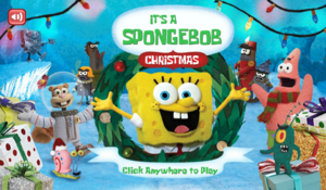 It's a SpongeBob Christmas game new title screen