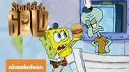 Spongebob Gold Squiddy vs Krabby Patty Nickelodeon