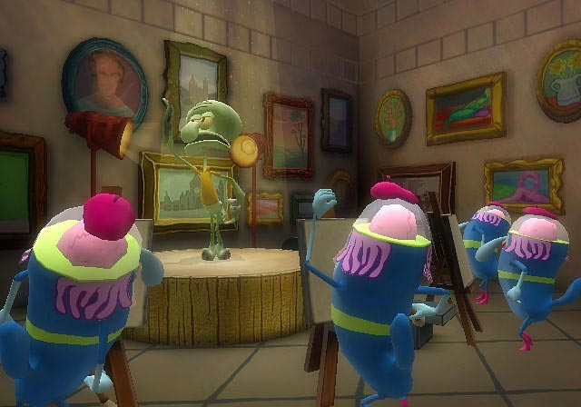 File:3d Squidward & 4 3d Atlantians In The Hall Of Art In Atlantis.jpg