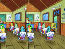 Errors on Mrs. Puff's Boating School students in Dichin'
